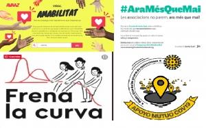 #AraMésQueMai Iniciativas de comunicación y cooperación solidarias y asociativas ante la Covidien-19